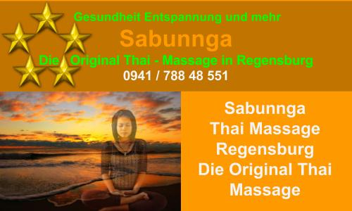 Sabunnga Thai Massage Regensburg die Original Thai Massage